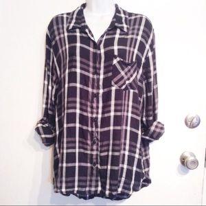 WOOLRICH Plus Size Plaid Button Up Shirt